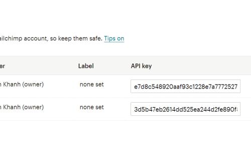 Mailchimp Atom8 integration 4