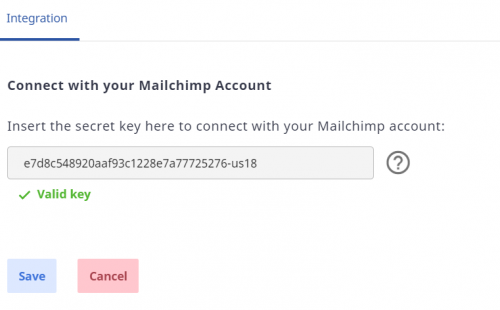 Mailchimp Atom8 integration 6