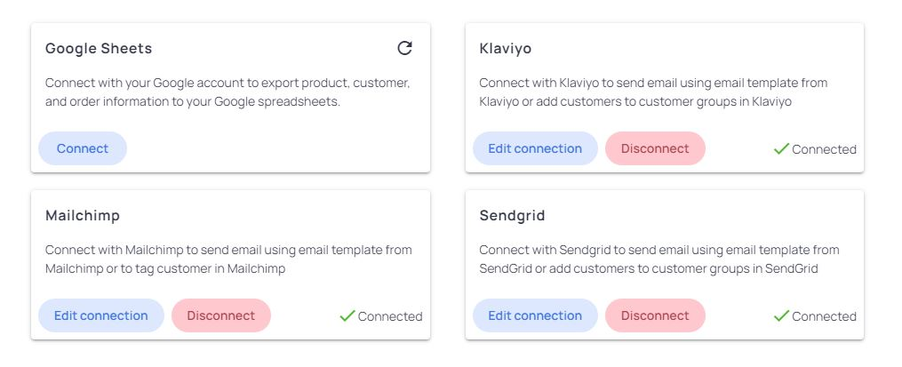 Instruction-on-integrating-with-Mailchimp/Sendgrid/Klaviyo