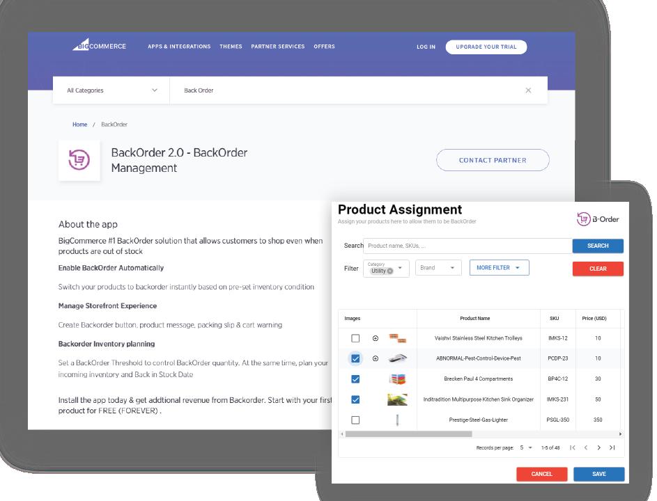BackOrder inventory management demo