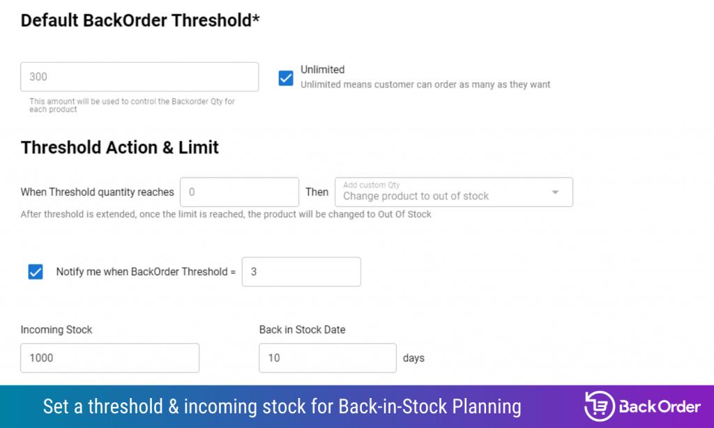 4 - Back in Stock