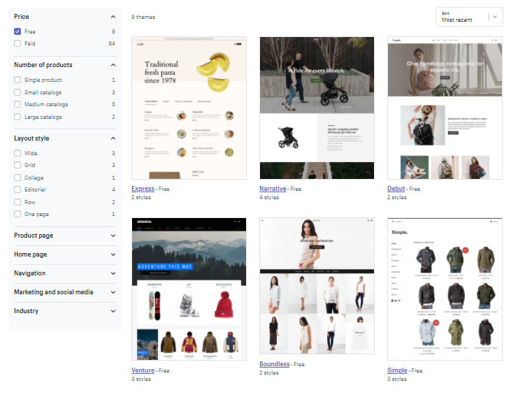BigCommerce theme store