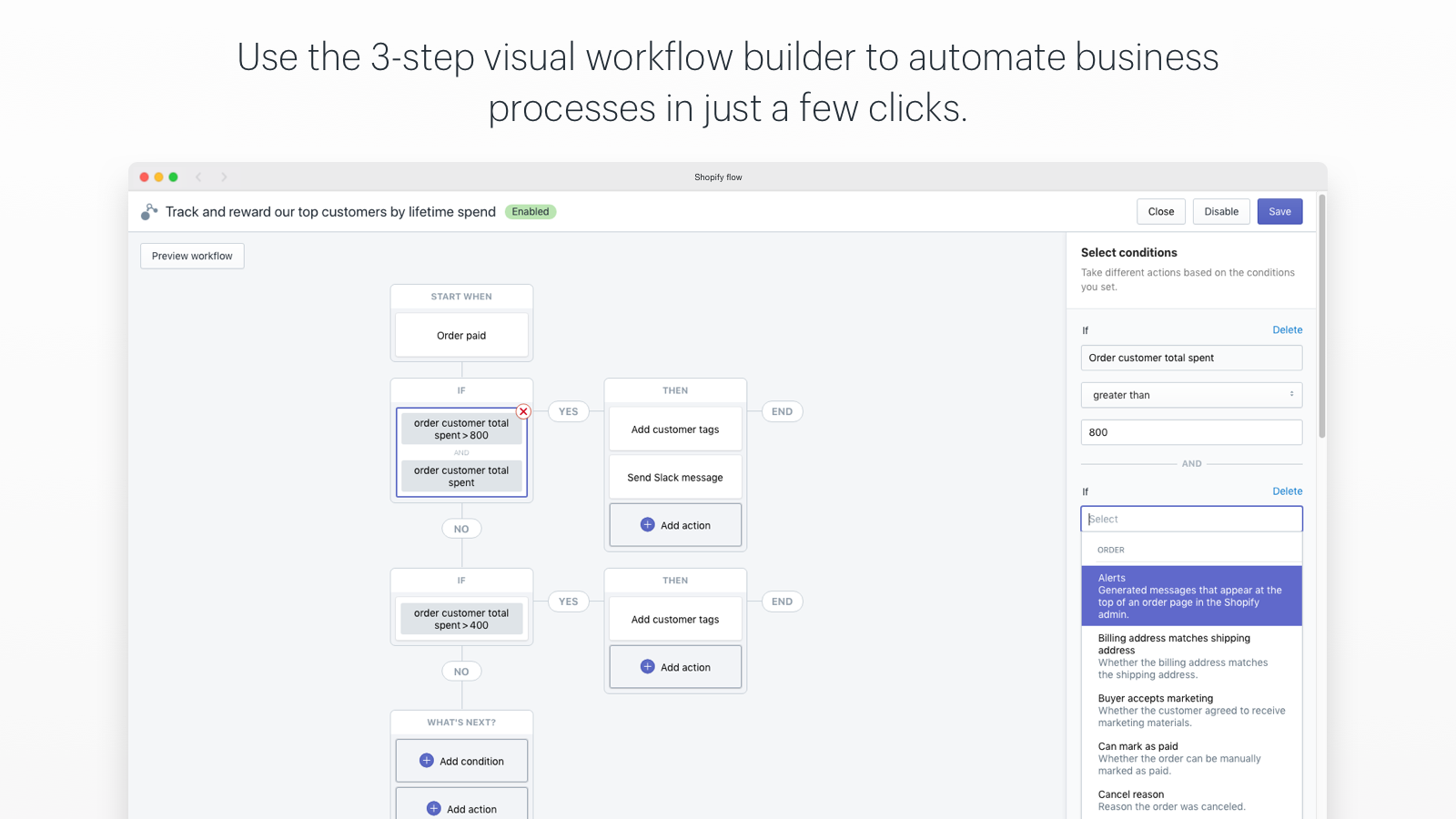 Shopify Flow automation app demo