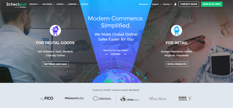2checkout payment gateway for Shopify merchants