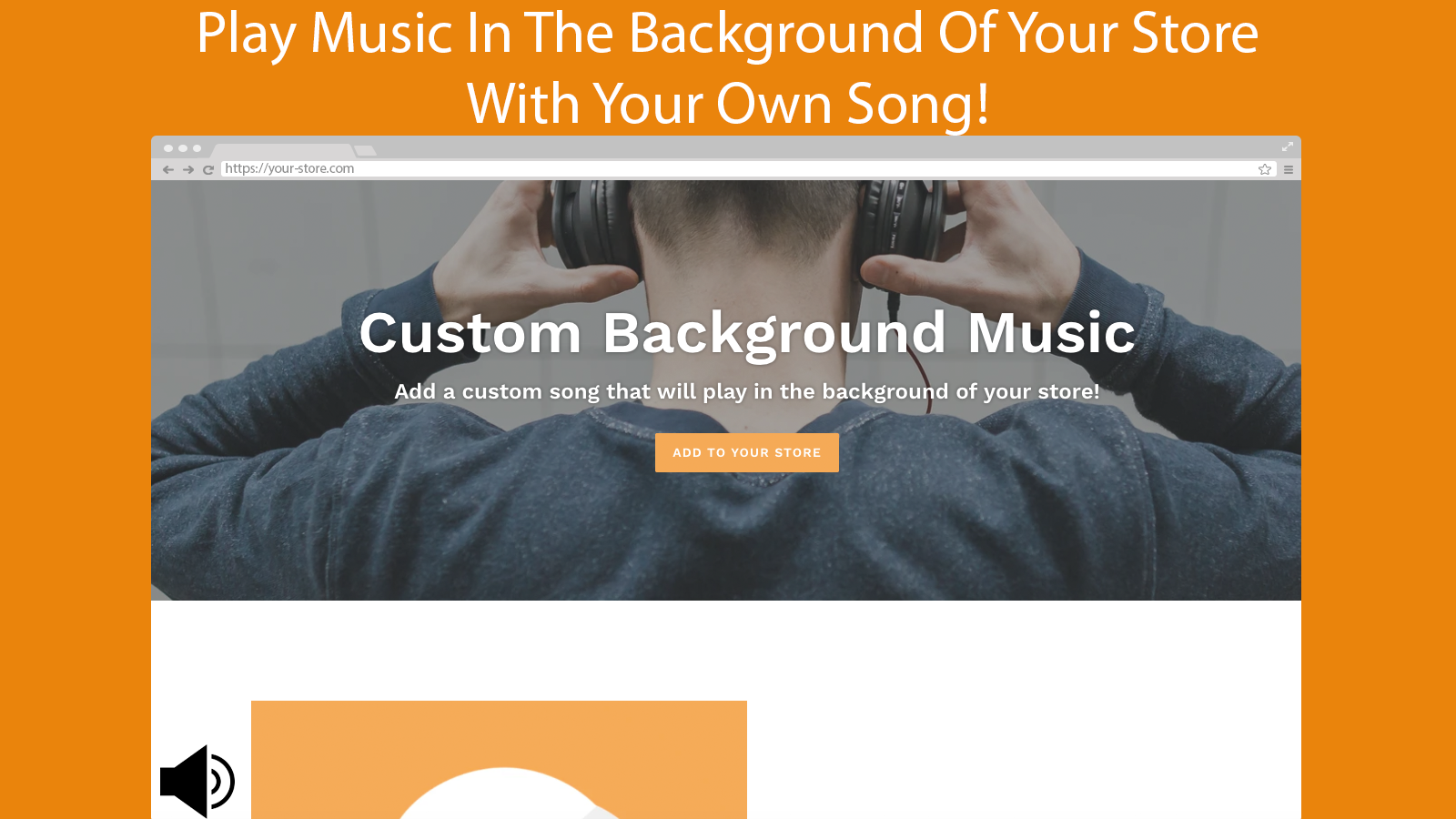 custom music background app for shopify stores