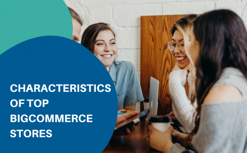 women laughing at each other around the table discussing top bigcommerce stores
