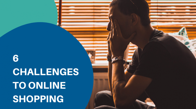 main sitting on the chair thinking about challenges to online shopping