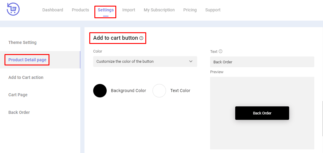 backorder Add to cart button