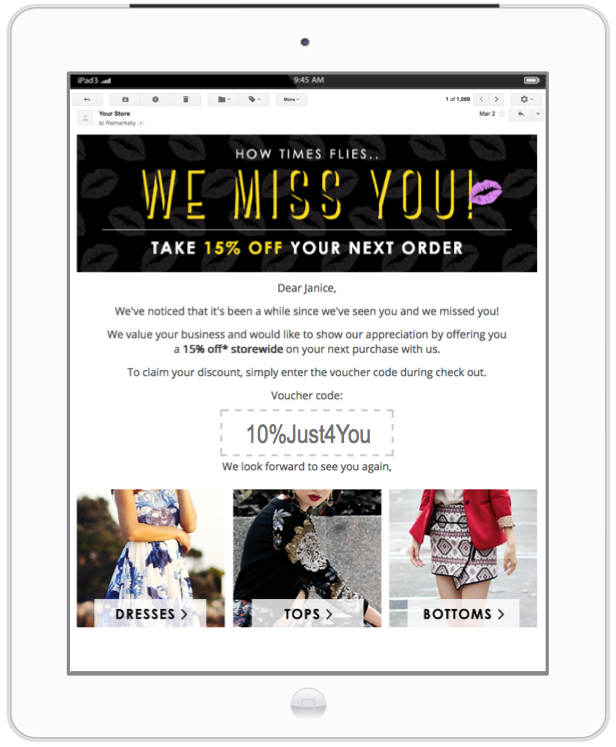 email to engage with inactive customers