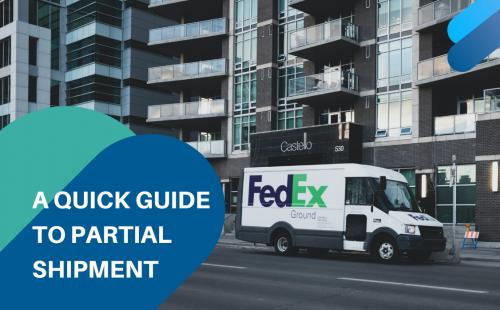 Fedex shipment van on a street