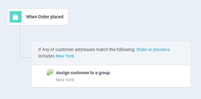 atom8 workflow to assign customers to a group