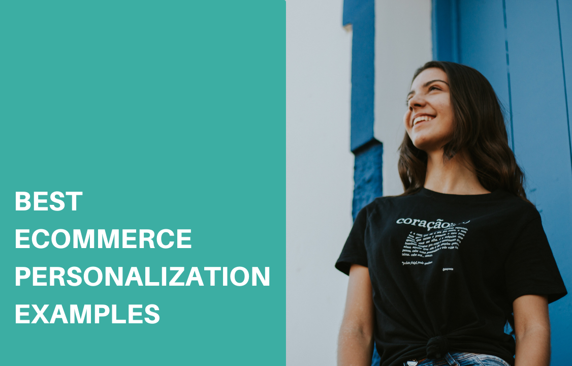 woman in black shirt smiling happily with ecommerce personalization