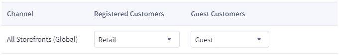bigcommerce customer group default setting