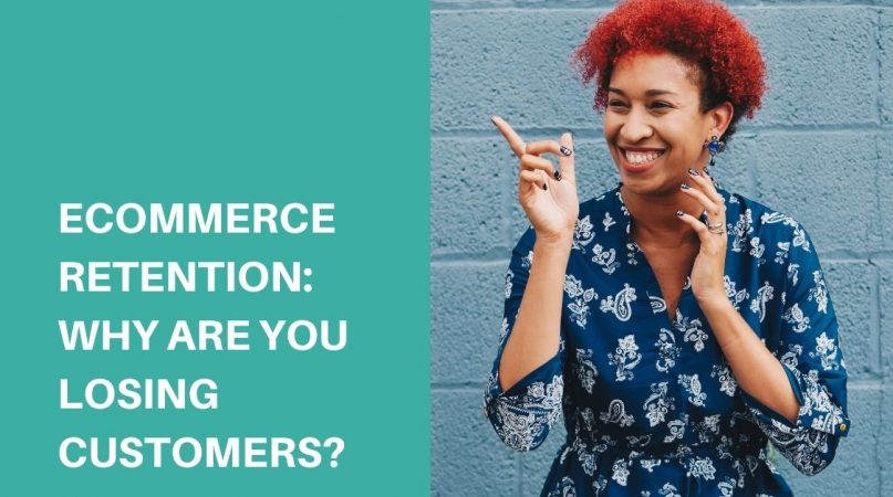 a red-haired woman smiling about ecommerce retention
