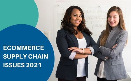 two women smiling while discussing ecommerce supply chain issues
