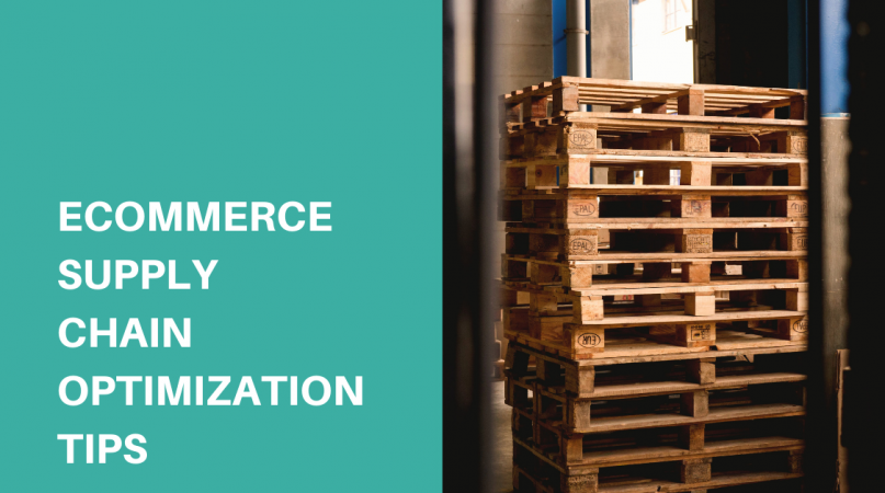 wooden racks in the warehouse supply chain