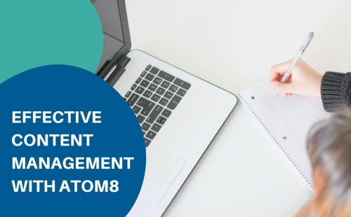 a person planning content management on a white table