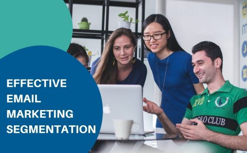 4 people discussing email marketing segmentation