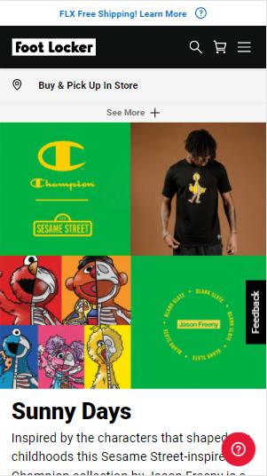 Foodlocker's mobile layout as online merchandising strategies