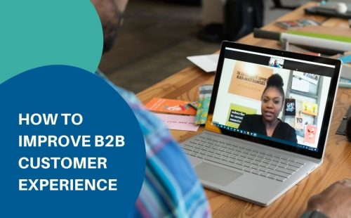 a video call to provide b2b customer experience service