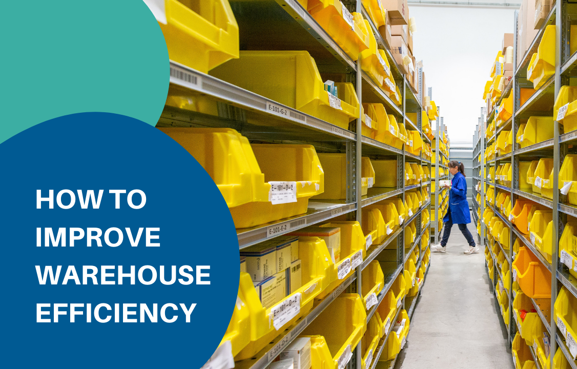 yellow crates on the warehouse efficiency