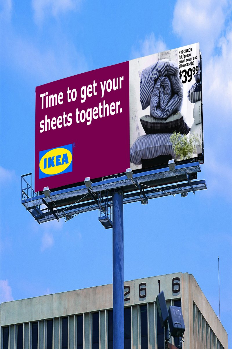 example of advertising based on geographic customer segmentation by IKEA