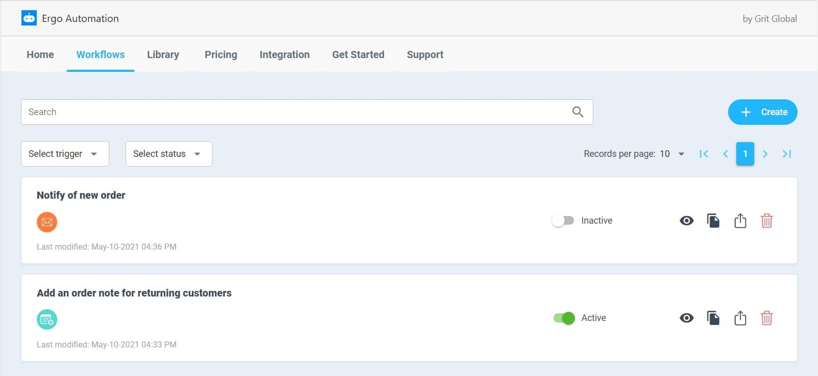shopify automation manage workflow