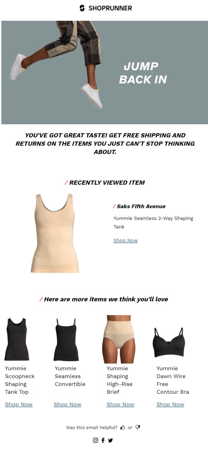 shoprunner cross-sell email