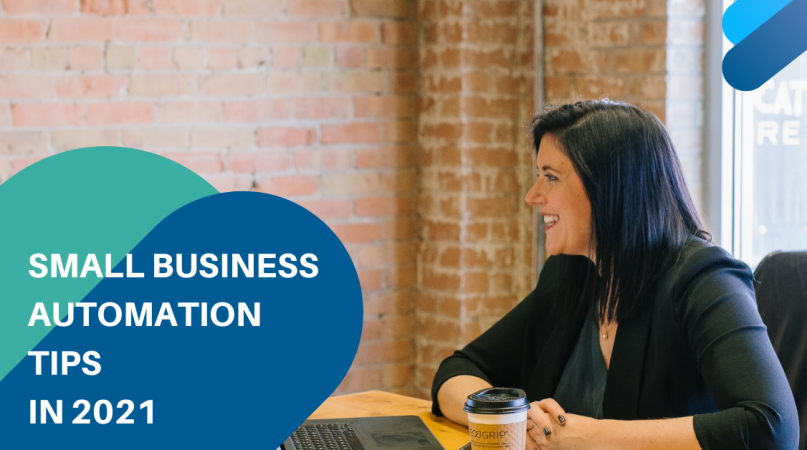 A woman smilling to have business automation
