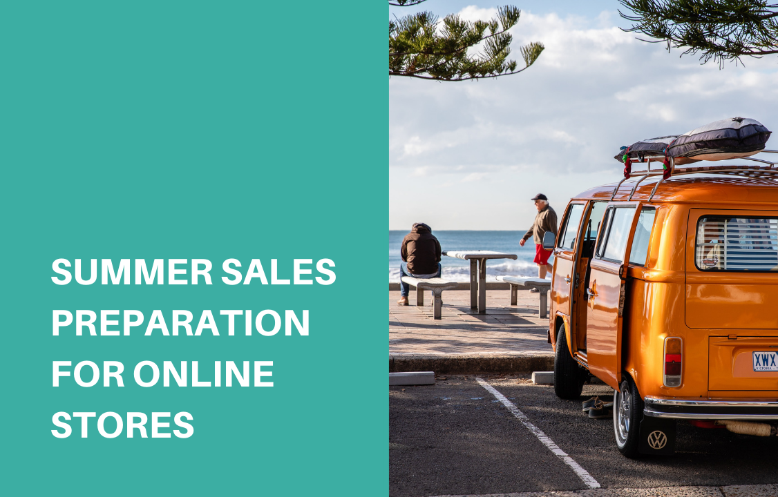 orange van truck during summer sales season