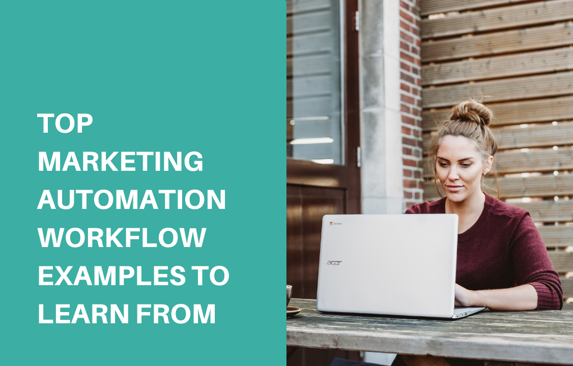 a woman working on her marketing automation