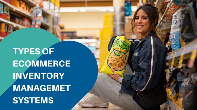 a woman sitting in the supermarket eating snacks related to inventory management