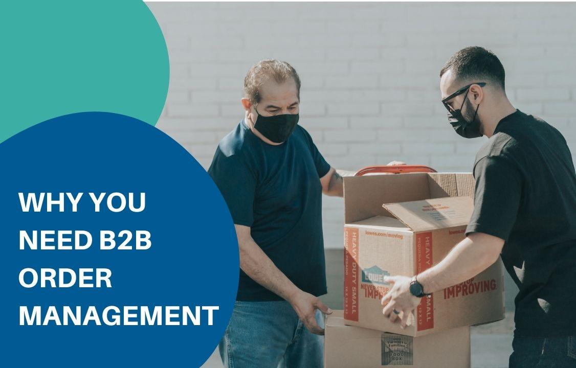 two men moving packing under order management