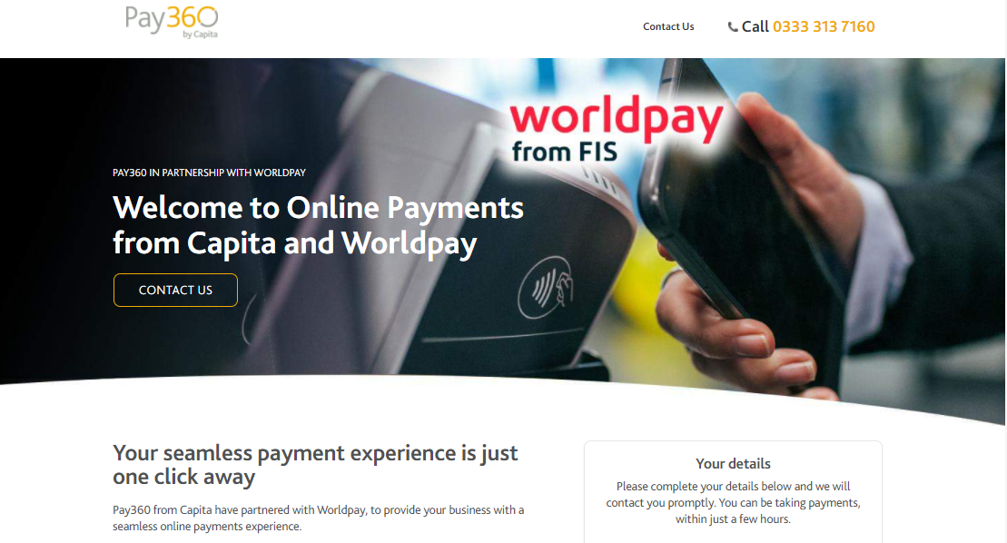 Worldpay website for Shopify merchants